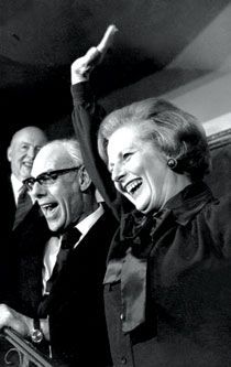 Margaret Thatcher with husband Denis