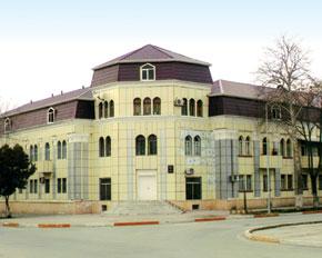 A building constructed by German prisoners. Mingechevir district