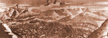 The panorama of Iravan castle (according to Zh.Shardan, 1672)