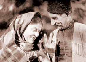 "Scene from the film ""Arshin Mal Alan""; starring A. Huseinzadeh, M. Kalantarli. 1945"