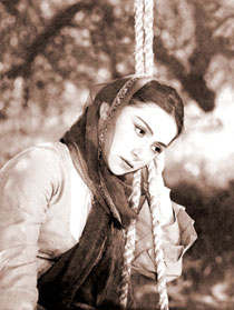 "Actress L. Shikhlinskaya playing Gulchohra in the film ""Arshin Mal Alan"". 1965"