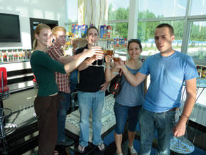 A toast in healthy juice – to Azerbaijan!
