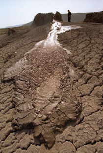 Mud volcano in Absheron district. Most of the world´s mud volcanos are in Azerbaijan