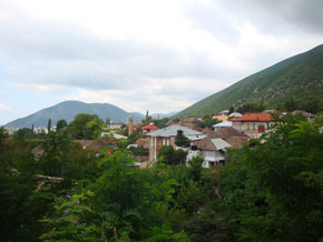 A view of the city of Sheki