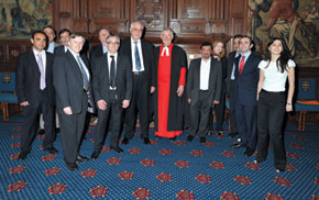 The delegation visits the Westminster Abbey in London
