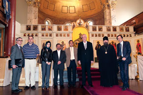 The delegation visits the Russian Orthodox Church in London