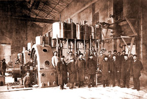 Klasson at an electric power station. 1902