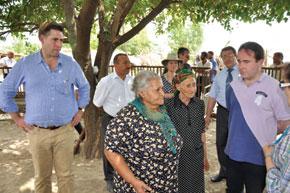At the Chalabikhan refugee settlement. Sheki district