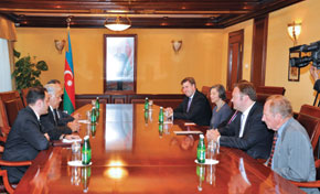 Meeting the Speaker of the Azerbaijani Parliament