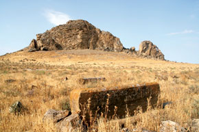 Camel rock with persian gravestone
