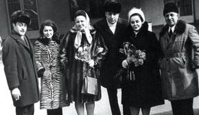 Leyla Badirbeyli with other cinema people