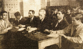 Exam in progress at the Institute. Academic year 1934-35