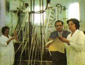 Academican Azad Mirzajanzadeh (1928-2006) in his laboratory. 1980