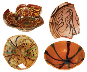 Early glazed pottery. 9th-10th century