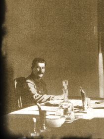 Stalin in his Kremlin office, 1930s. Orders were signed here during the repression