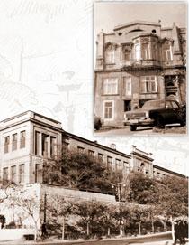 General view of the Children's Hospital. Baku