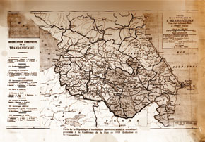 Map presented by the Azerbaijani delegation to the Paris Peace Conference. June 1919