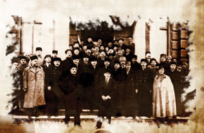 Reception at the Ministry of Internal Affairs on the recognition of Azerbaijani inderendence by the Paris Peace Conference. January 1920