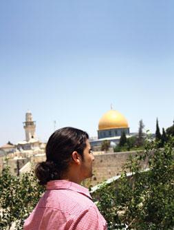 Enjoying the sights in Israel