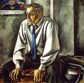 Tahir Salahov (1928- ). Azerbaijan. Portrait of Rasul Rza. 1971. Canvas, oil-paint. 155×165