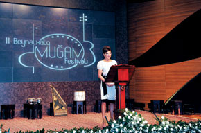 First Lady of Azerbaijan and President of the Heydar Aliyev Foundation, Mehriban khanim Aliyeva speaking at the festival opening ceremony