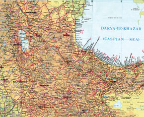 Geographical location of South Azerbaijan. From Map of the Islamic Republic of Iran. Tehran, 1999