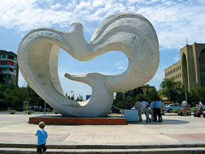 The Dove monument - a symbol of peace - by v. Nezirov and A. guliyev. 1978