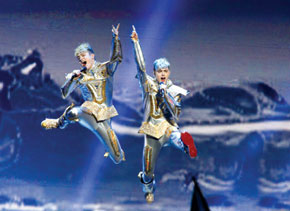 Jedward jump for the joy of Eurovision