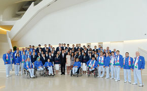 Olympic and Paralympic Teams receive the Presidential blessing