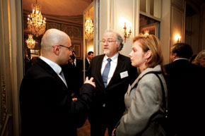 M. Pascal Meunier (centre) now French Ambassador in Azerbaijan with fellow guests