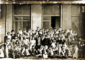 The first teachers; 58 students and members of the supervisory board