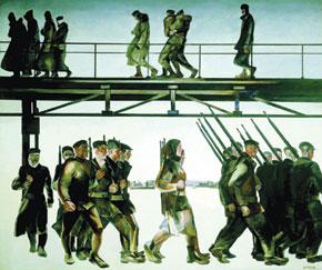 The Defence of Petrograd - Aleksandr Deineka (1928)