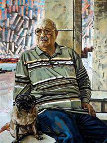 Portrait of Maqsud Ibrahimbeyov