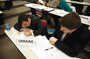 Ukraine delegates at summit