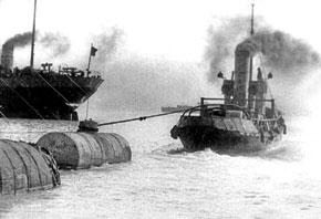 Transporting oil across the Caspian Sea during the war. 1942