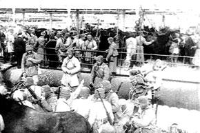 Enemy troop transport. 1942