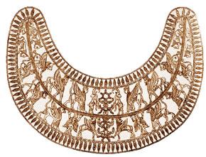 Golden pectoral, Zivye, VII century B.C