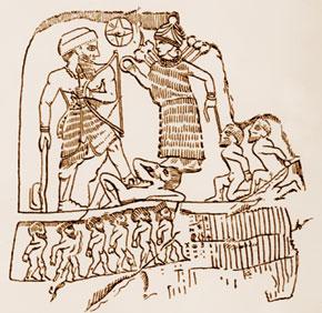 Rock relief of Lulubi king of Anubani, second half of the III millennium B.C
