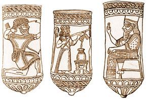 Manna archer, VII century B.C; Manna musician, VII century B.C; Manna King, VII century B.C