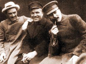 J. V. Stalin, S.M. Kirov and A.I. Mikoyan. 1932