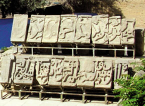 Bayil stones, displayed in the Shirvanshahs' Palace in the Old City