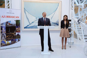 Azerbaijan´s President ilham Aliyev and first Lady Mehriban Aliyeva attended a ceremony to launch 'Azərbaycan' book