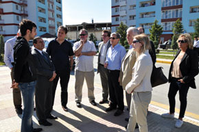 Visiting newly-constructed housing for IdPs from Nagorno-Karabakh and surrounding regions