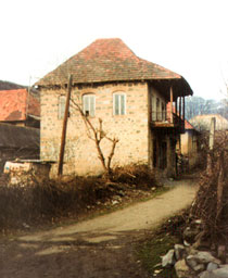 Typical Jewish house, early 20th century. Oghuz (former Vartashen), Azerbaijan