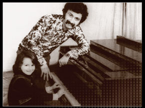 Vagif Mustafazadeh with daughter Aziza, now a famous jazz pianist herself