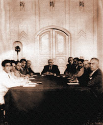 A meeting of the national government