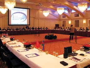 The Congress of European Azerbaijanis in session. Frankfurt. 14 April 2009