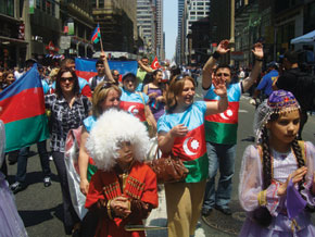 Delegation of the Azerbaijani diaspora. New York. 23 May 2009