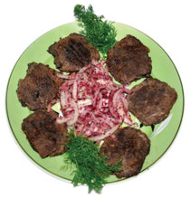 Tava (frying-pan) kebab with levengi
