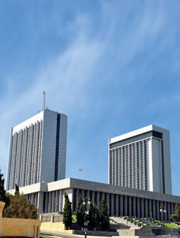 The National Assembly (Milli Majlis) building of the Azerbaijan Republic